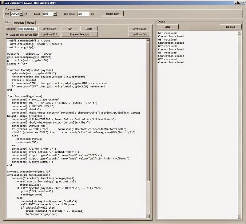 WIFI Web Power Switch for MAINS – ESP8266 – CBDB Board