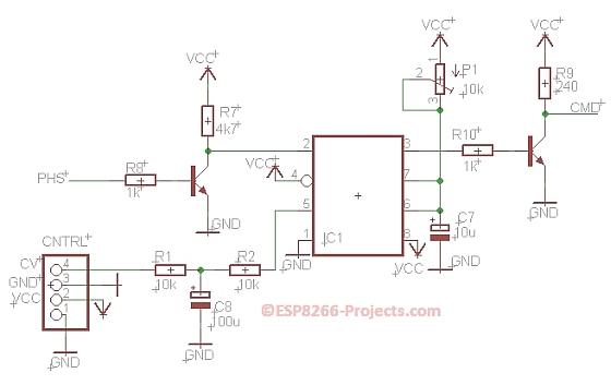 Zero crossing detection circuit diagram using op-amp